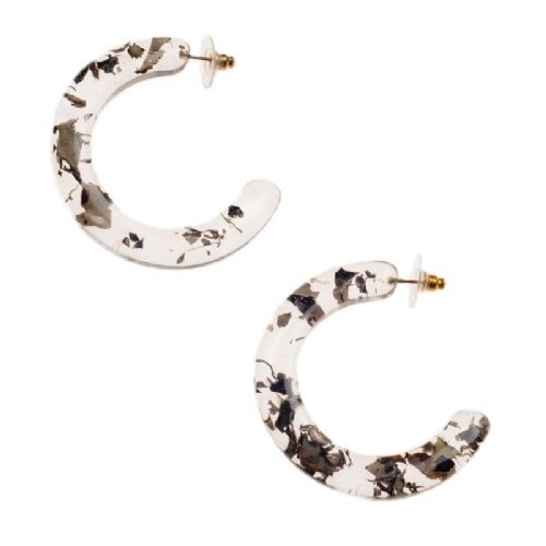 Jackie Brazil Hoop on Pin Circus Earrings in Seaweed